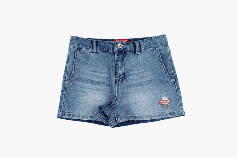 아이스비스킷 - Wendy color block denim shorts 40% sale