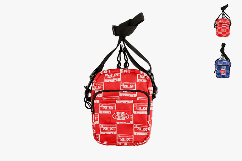 아이스비스킷 - Multi mix tape messenger bag