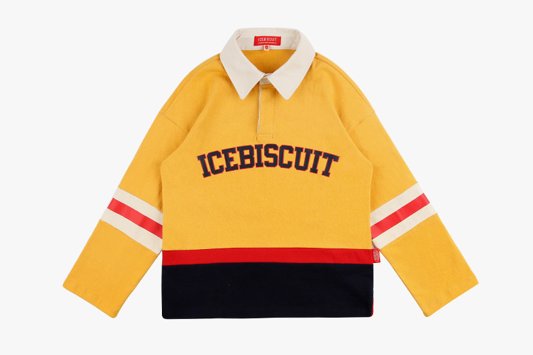 아이스비스킷 - Icebiscuit color block rugby shirt 20% sale