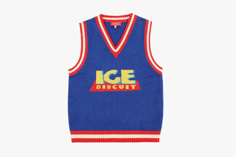 아이스비스킷 - Ice story color block sweater vest 20% sale