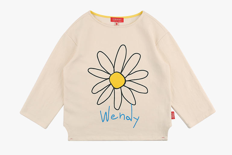 아이스비스킷 - Wendy's Daisy long sleeve tee