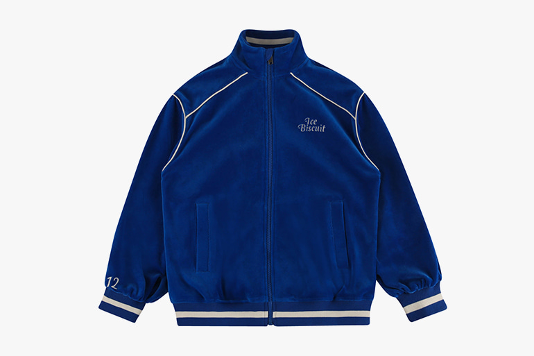 아이스비스킷 - Piping point velour track jacket