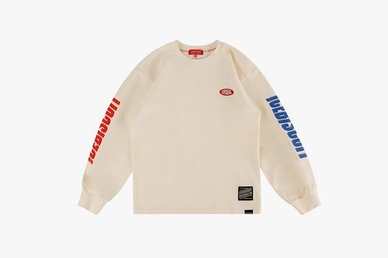 아이스비스킷 - Icebiscuit logo point long sleeve tee