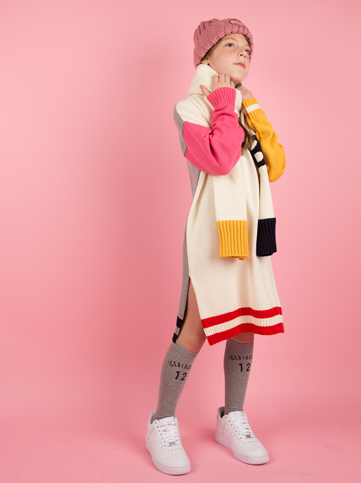 아이스비스킷 - B color block sweater dress 20% sale