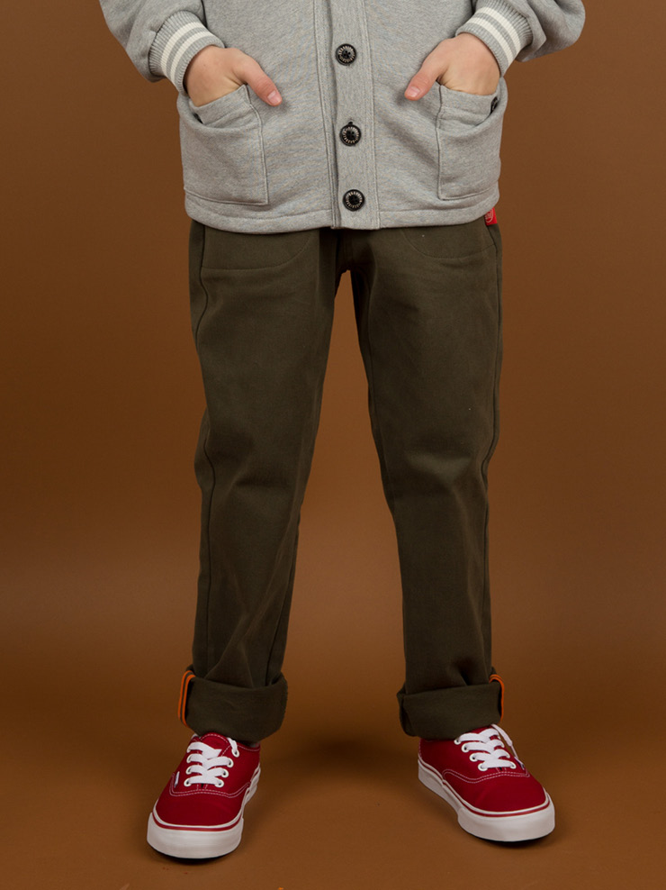 Icebiscuit khaki tapered pants 40% sale
