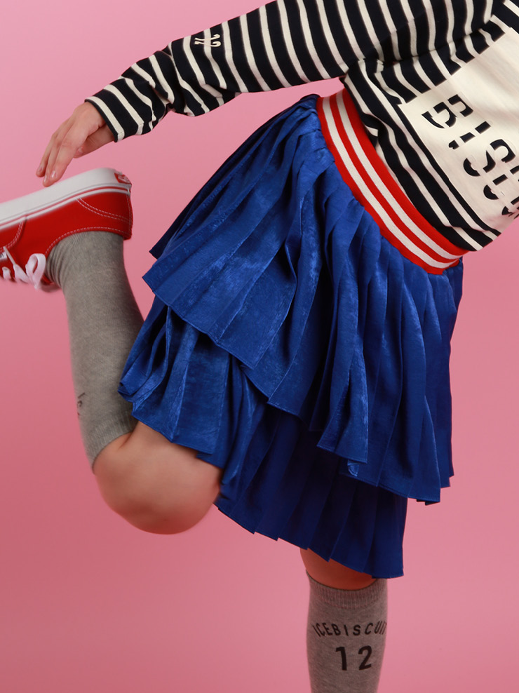 아이스비스킷 - Stripe band tiered skirt 20% sale