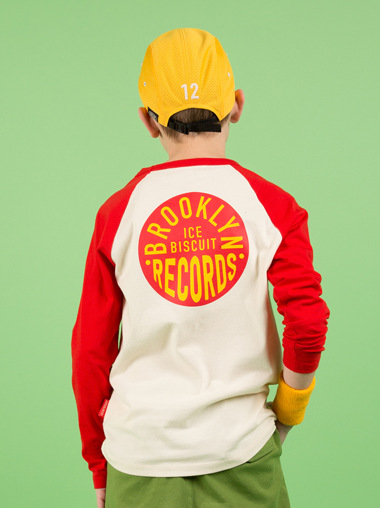 아이스비스킷 - Records shop raglan tee