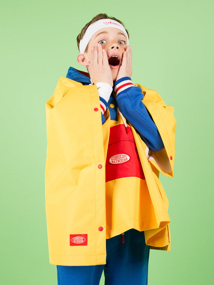 아이스비스킷 - Icebiscuit color block rain cape