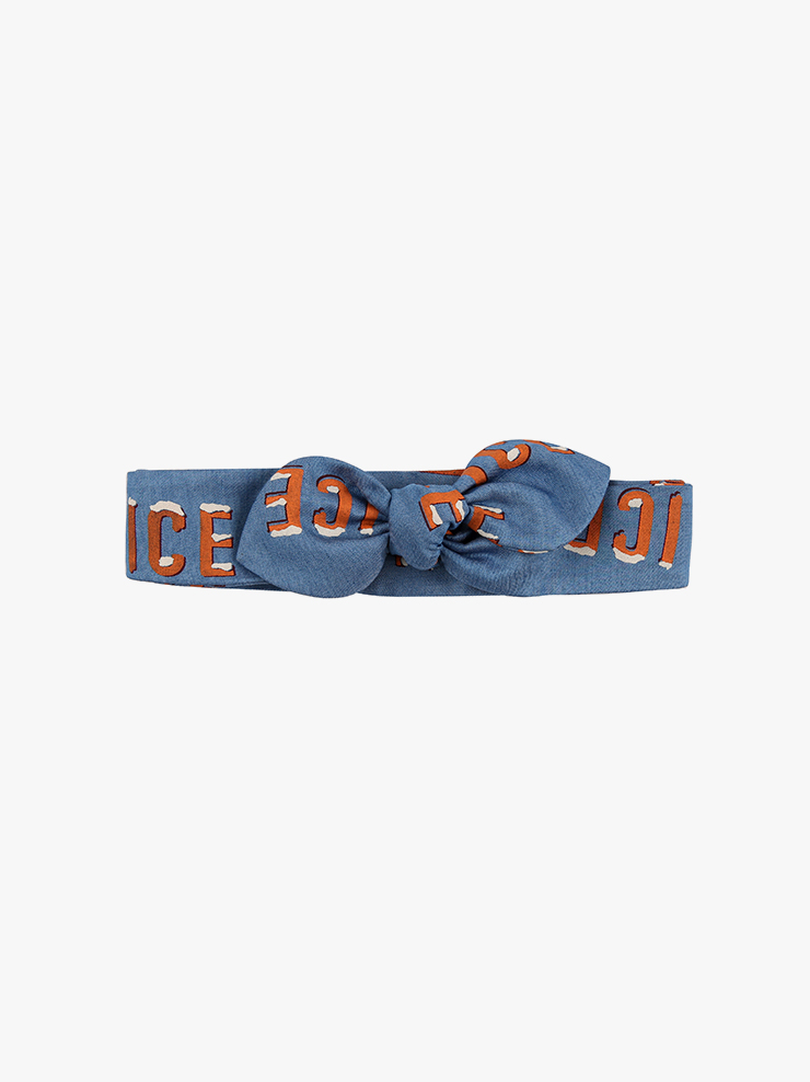 아이스비스킷 - Ice printed denim headband