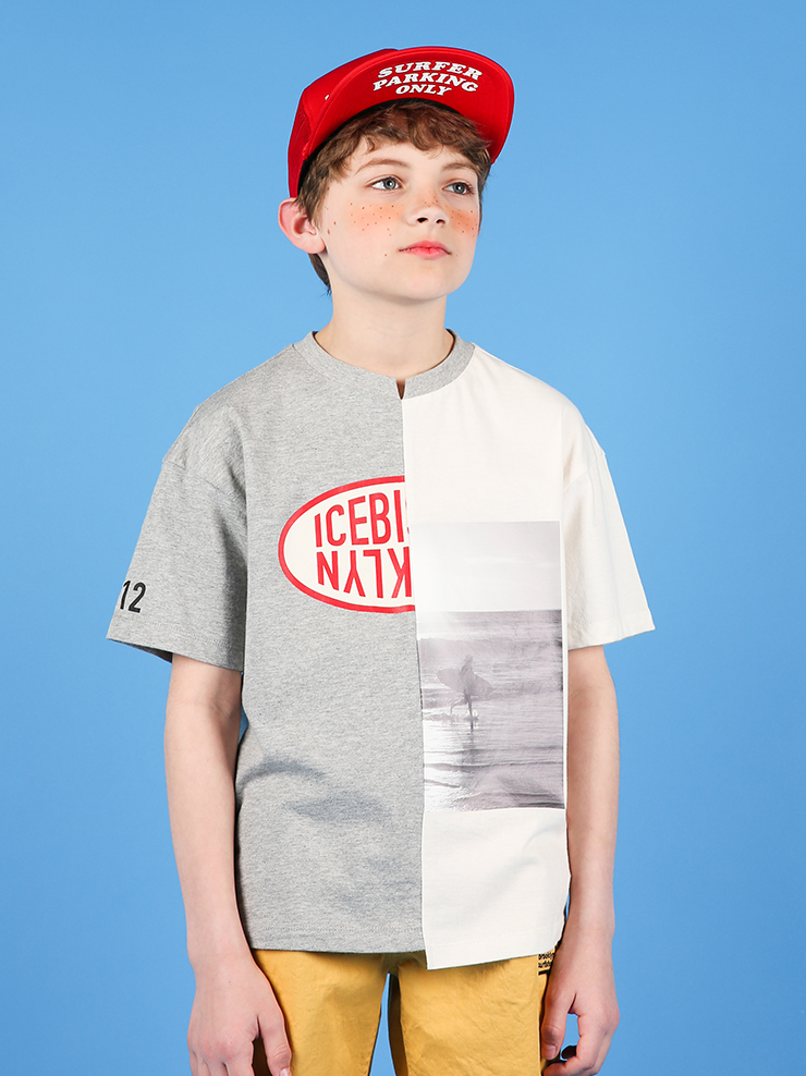 아이스비스킷 - Icebiscuit cut-off short sleeve tee