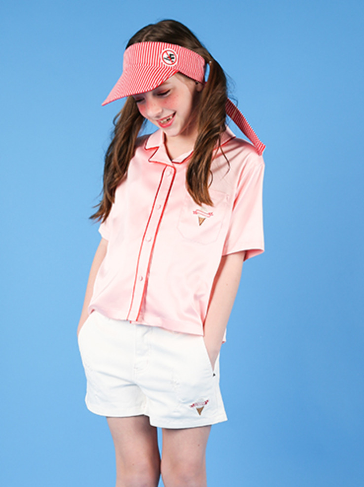 아이스비스킷 - Pink ice cream Pajama shirt 40% sale