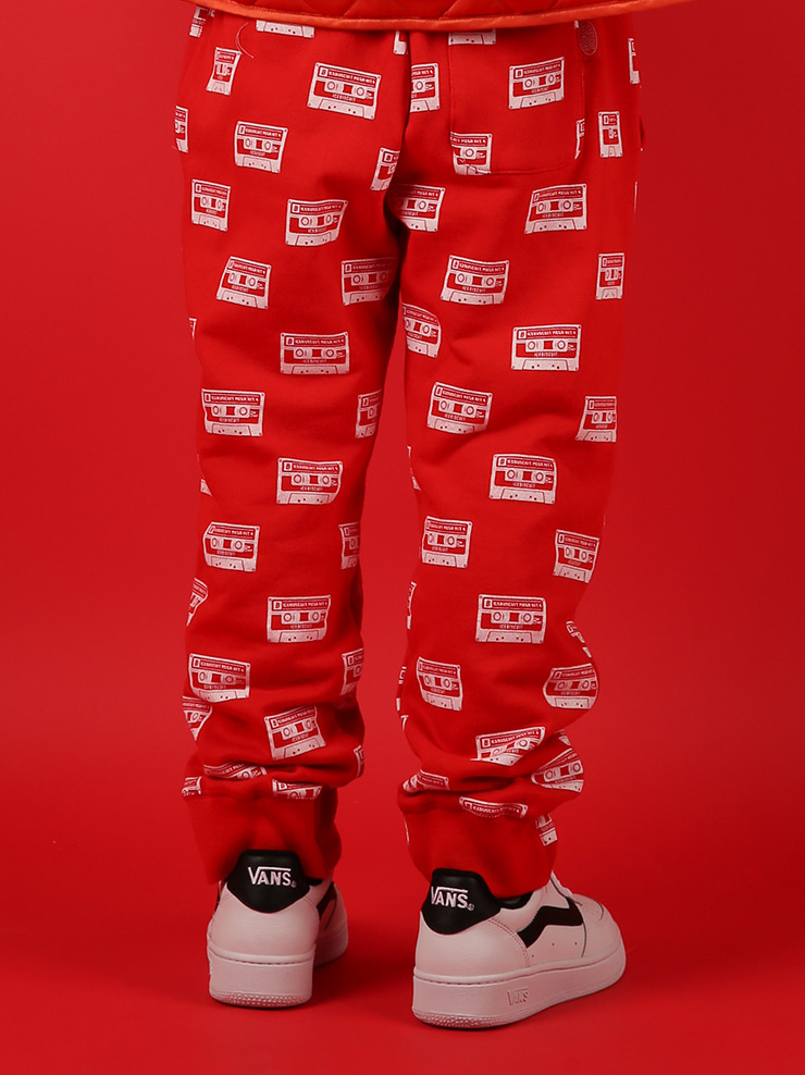 아이스비스킷 - Multi mix tape sweat pants 20% sale