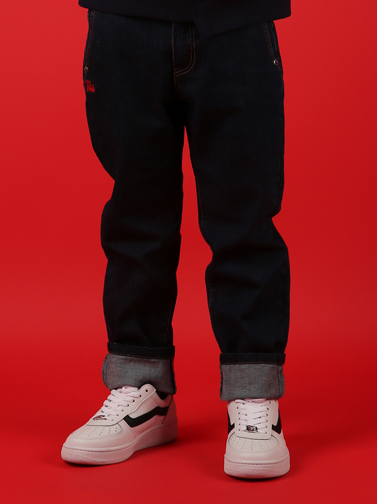 아이스비스킷 - Ted straight-fit indigo denim pants 20% sale