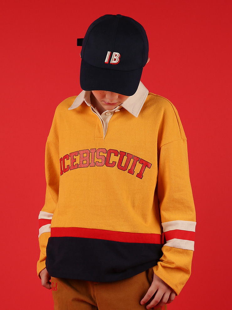 아이스비스킷 - Icebiscuit color block rugby shirt 30% sale