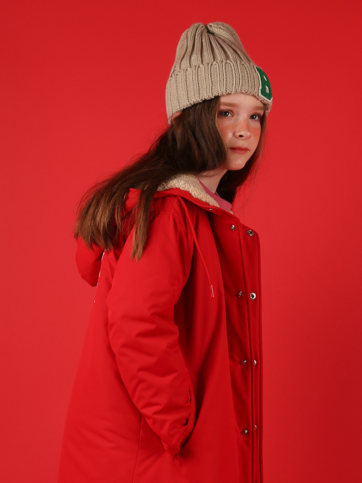 아이스비스킷 - Icebiscuit fleece long parka