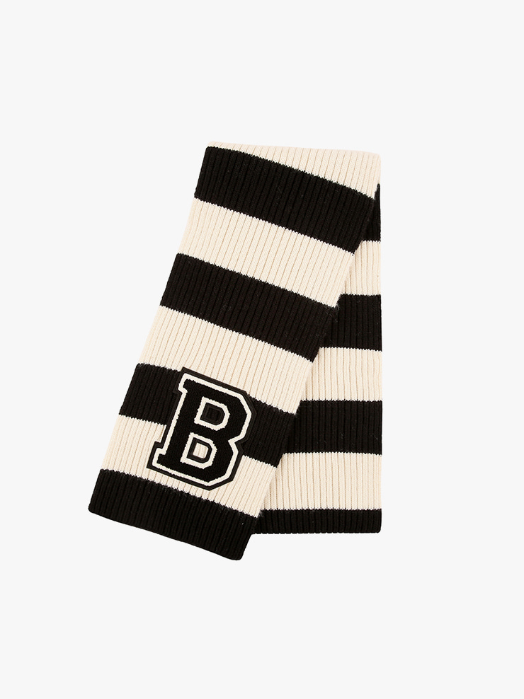아이스비스킷 - B Wappen point stripe muffler