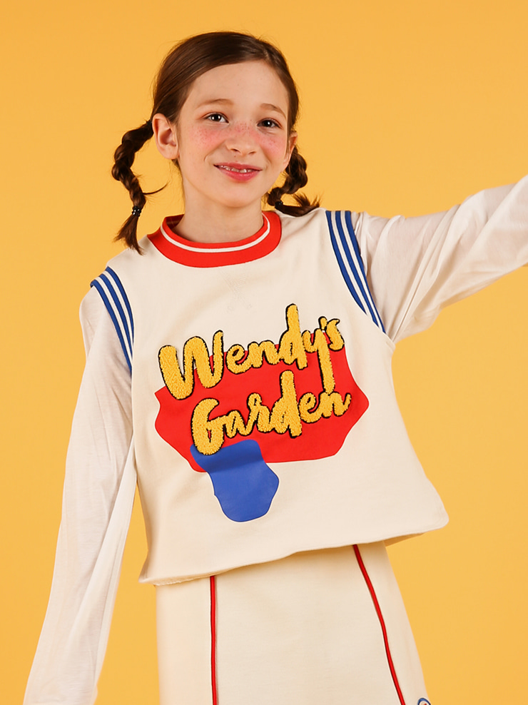 아이스비스킷 - Wendy's garden sleeveless sweatshirt