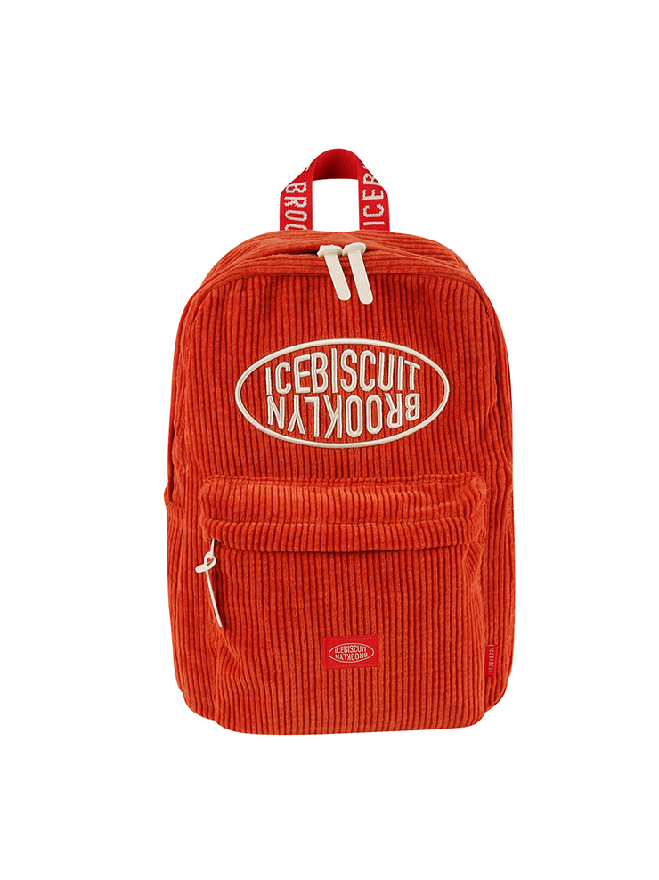 아이스비스킷 - Icebiscuit symbol corduroy backpack