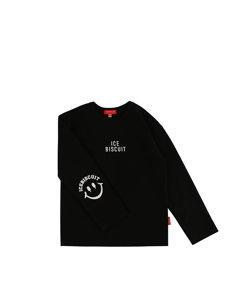 아이스비스킷 - Icebiscuit smile long sleeve tee