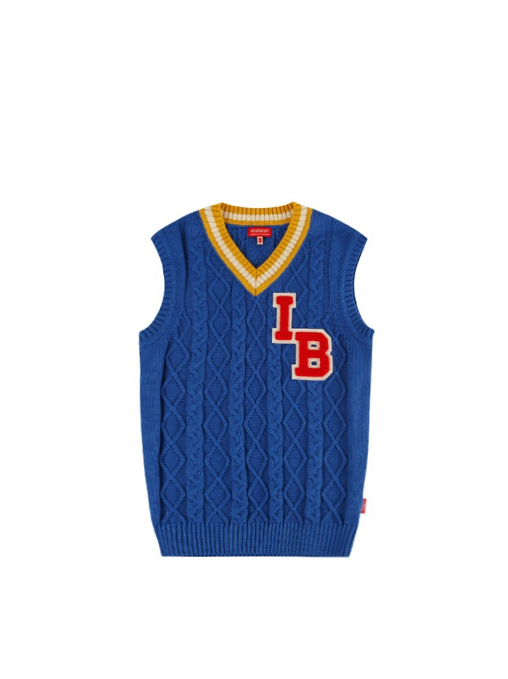 아이스비스킷 - Icebiscuit loose-fit sweater vest 20% Sale