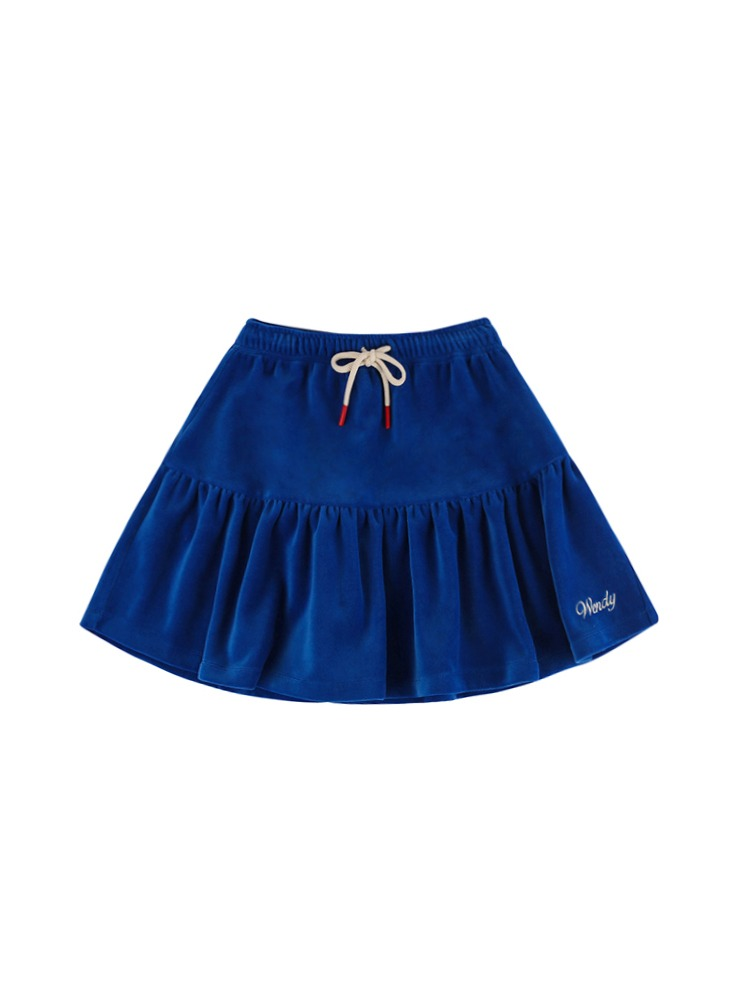 아이스비스킷 - Wendy velour track skirt