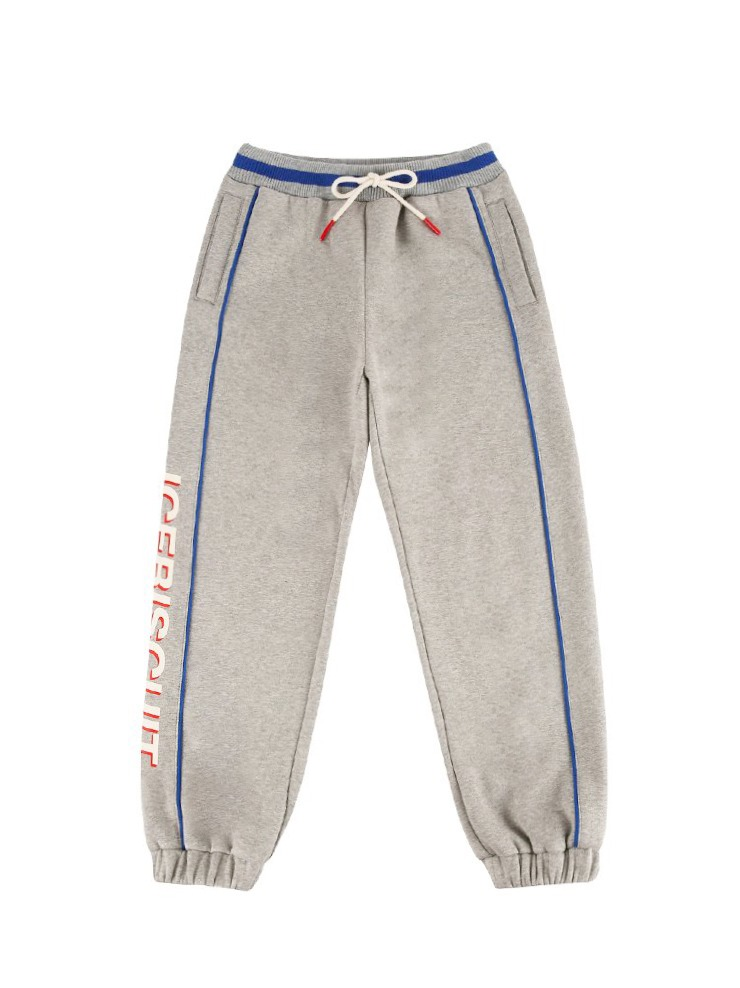 아이스비스킷 - Icebiscuit side color block sweat pants (기모O)