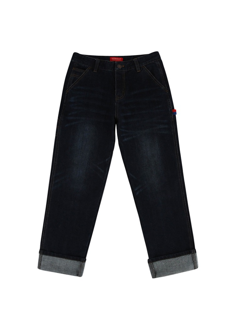 아이스비스킷 - Icebiscuit straight-fit indigo denim pants
