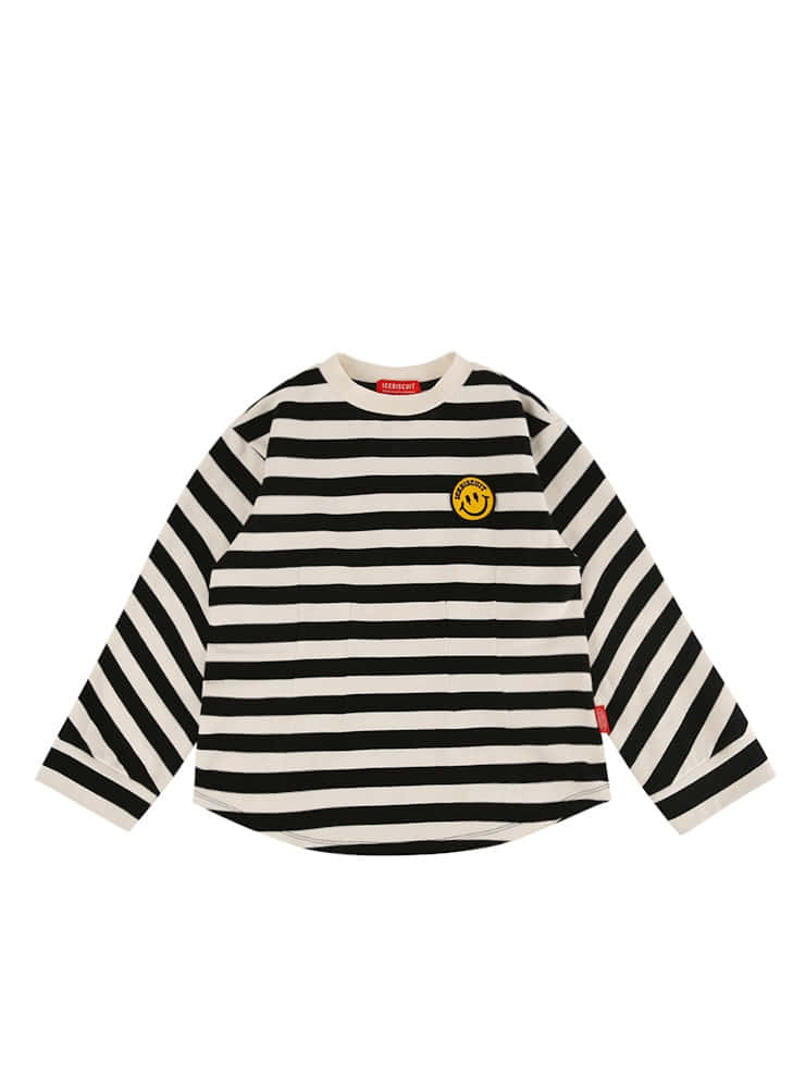 아이스비스킷 - Smile darts point stripe tee