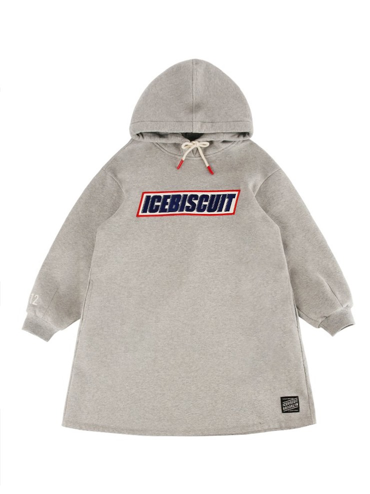 아이스비스킷 - Icebiscuit oversized hoodie sweat dress (기모O)