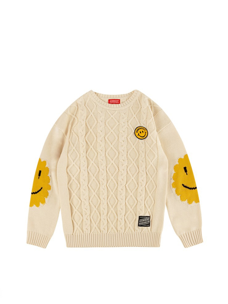 아이스비스킷 - Icebiscuit smile point fullover sweater