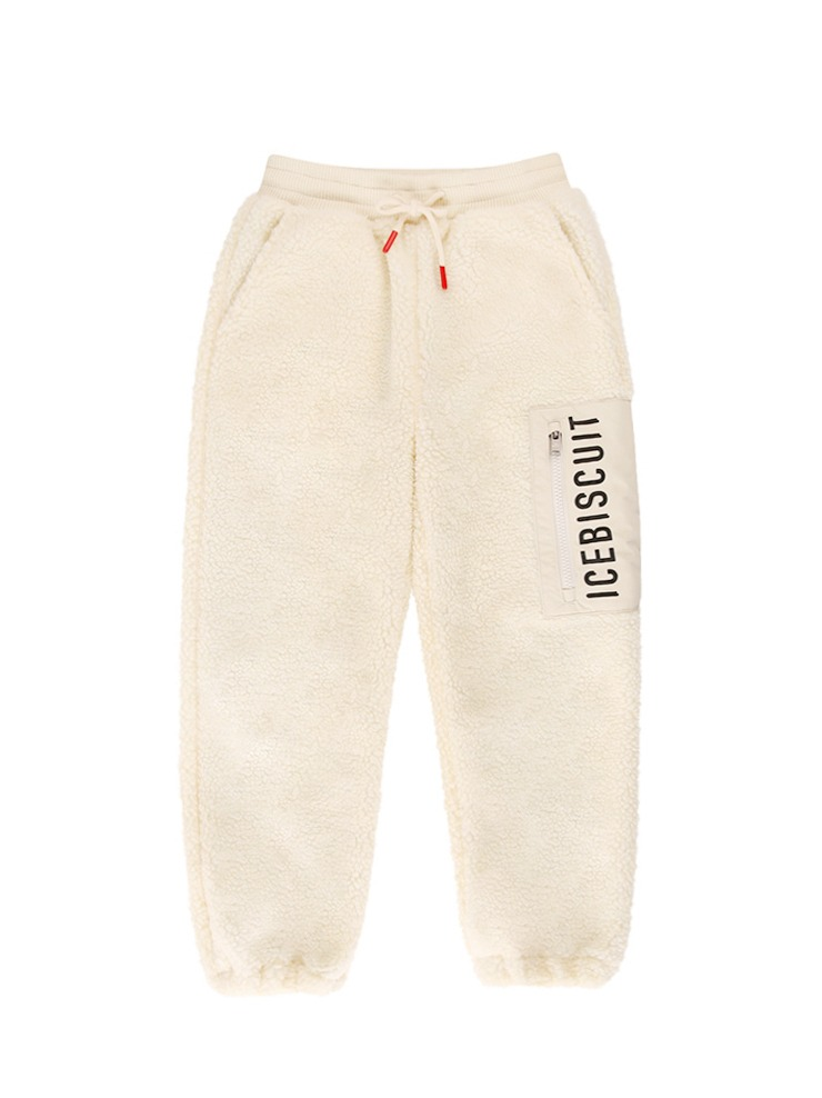 아이스비스킷 - Icebiscuit sherpa fleece pants