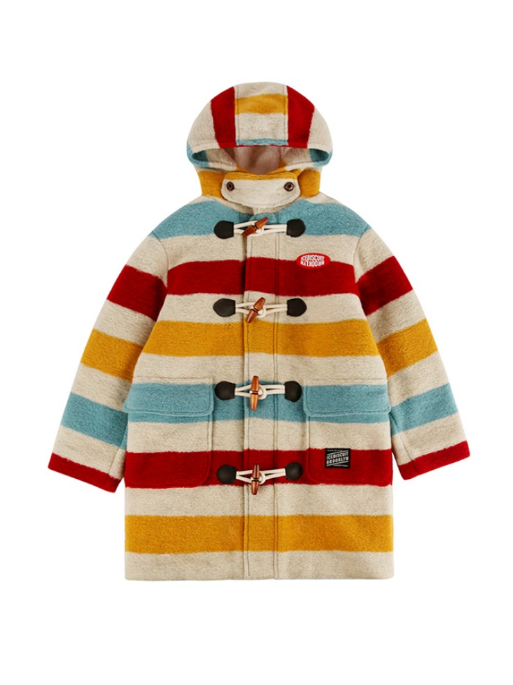 아이스비스킷 - Icebiscuit stripe duffle coat
