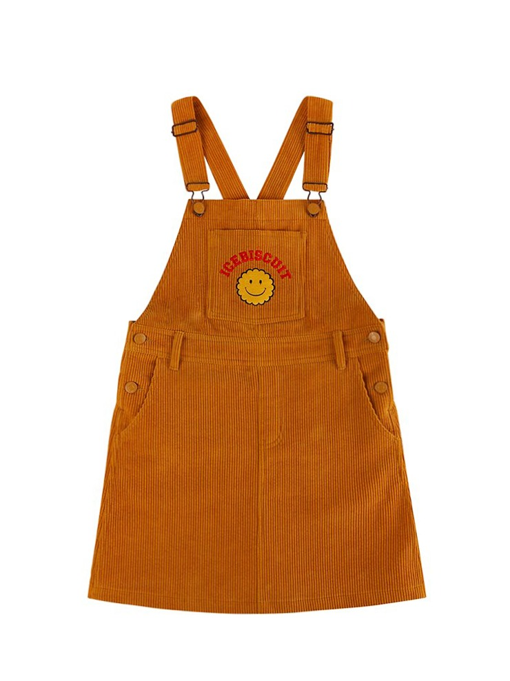 아이스비스킷 - Smile corduroy overall dress