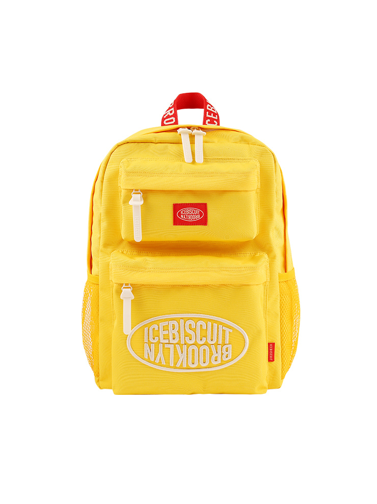 아이스비스킷 - Icebiscuit symbol double pocket backpack