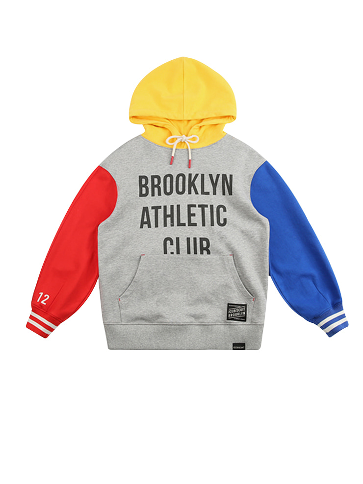 아이스비스킷 - Athletic club color block hoodie 20% sale