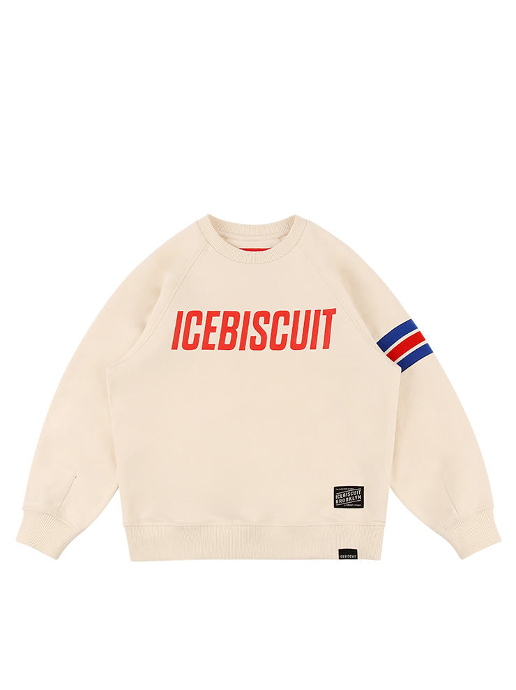 아이스비스킷 - Icebiscuit athletic crew neck sweatshirt