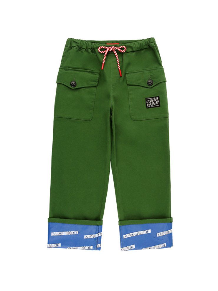 아이스비스킷 - Ted side pocket roll-up pants