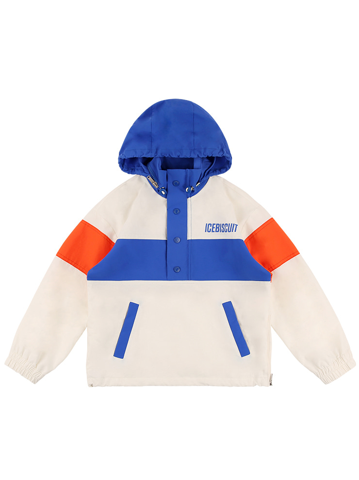 아이스비스킷 - Icebiscuit skate color block anorak 10% sale