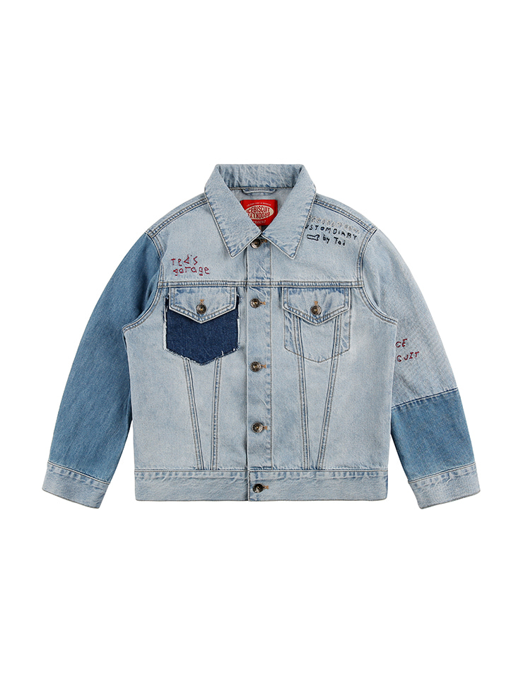 아이스비스킷 - Ted graffiti denim jacket 20% sale