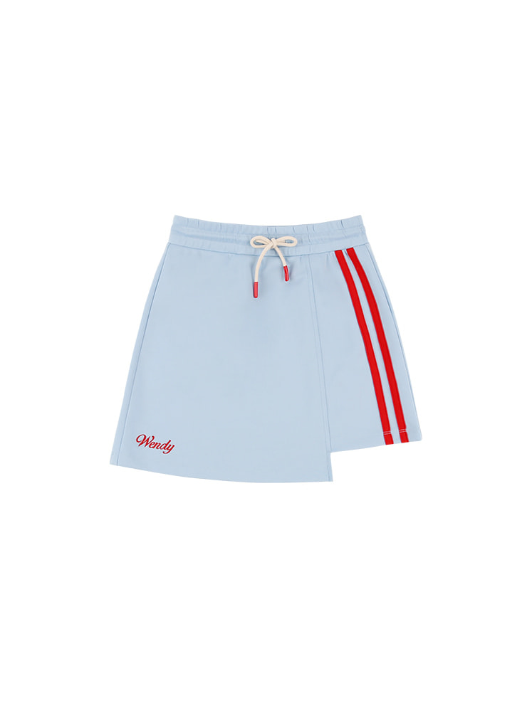 아이스비스킷 - Wendy unbalanced stripe track skirt 20% sale