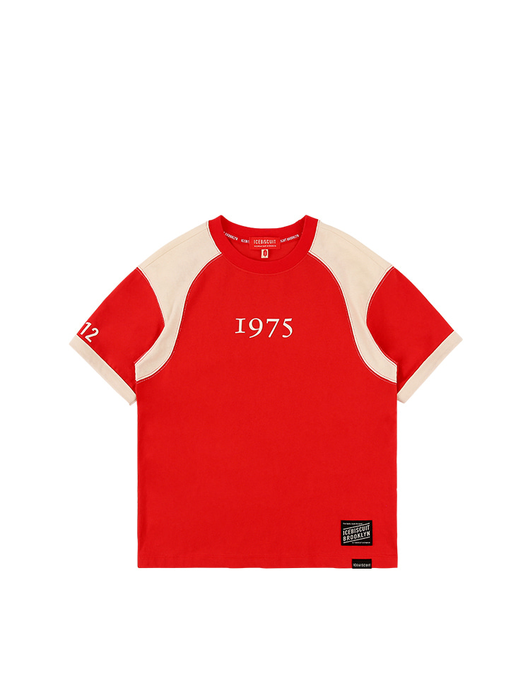 아이스비스킷 - 1975 Icebiscuit color block short sleeve tee
