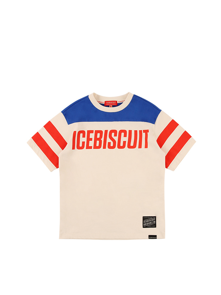 아이스비스킷 - Icebiscuit logo color block short sleeve tee
