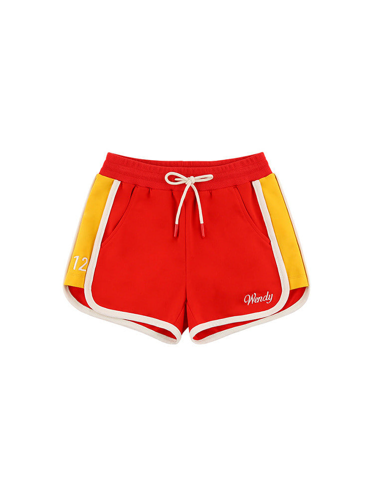 아이스비스킷 - Contrast binding color block track shorts