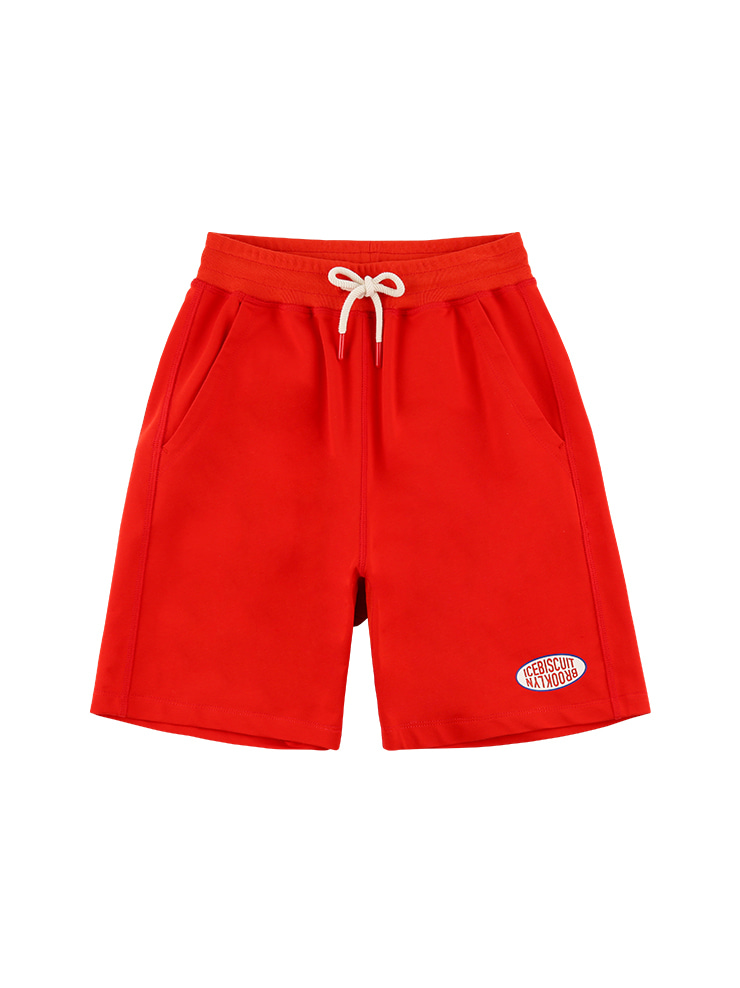아이스비스킷 - Icebiscuit color symbol logo sweat shorts