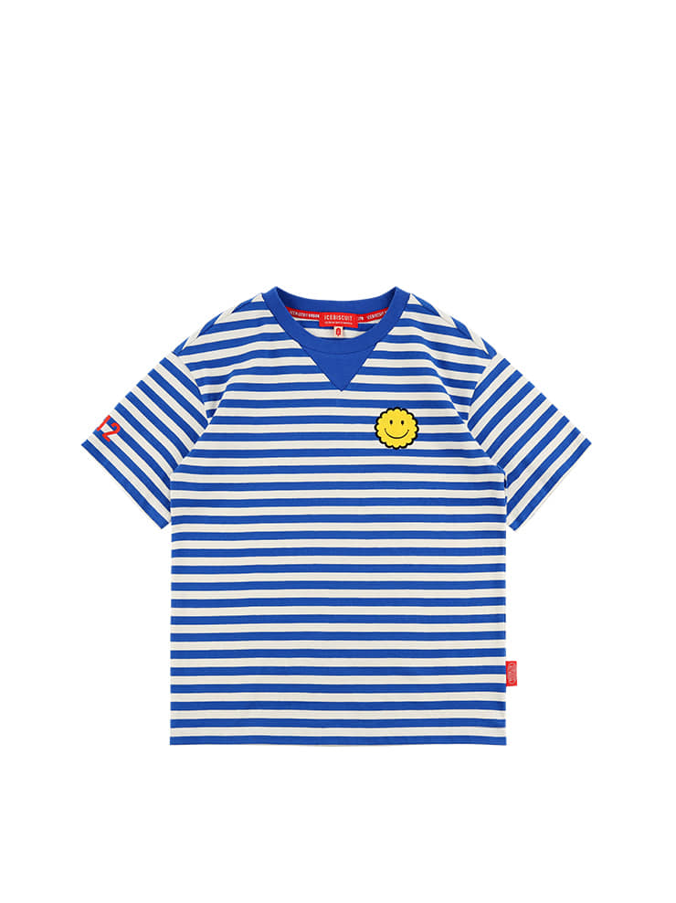 아이스비스킷 - Icebiscuit smile short sleeve stripe tee