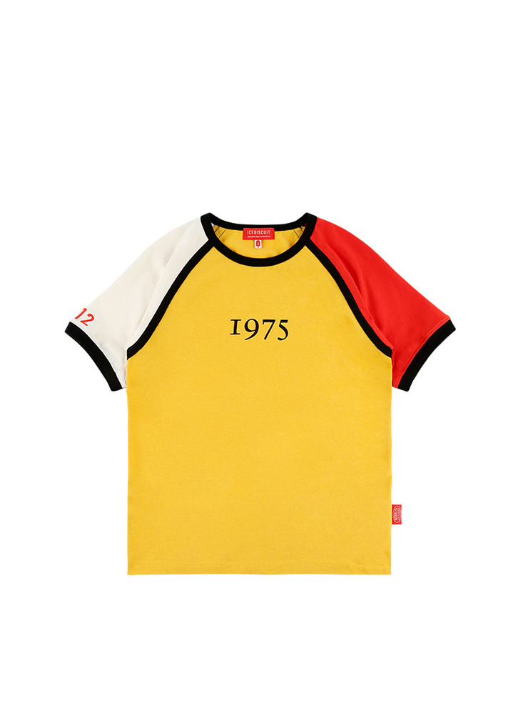 아이스비스킷 - 1975 color block ringer tee