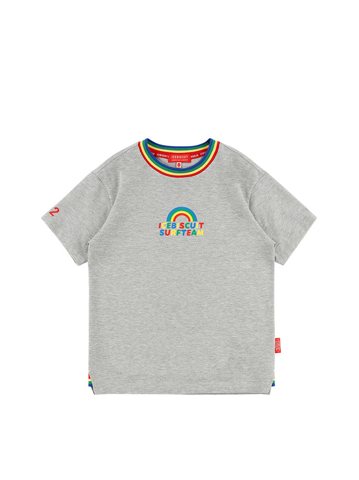 아이스비스킷 - Rainbow rib point short sleeve tee