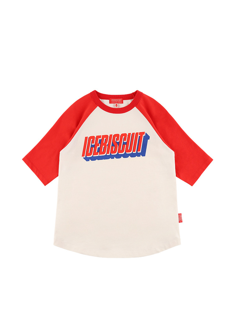 아이스비스킷 - Icebiscuit color block raglan tee