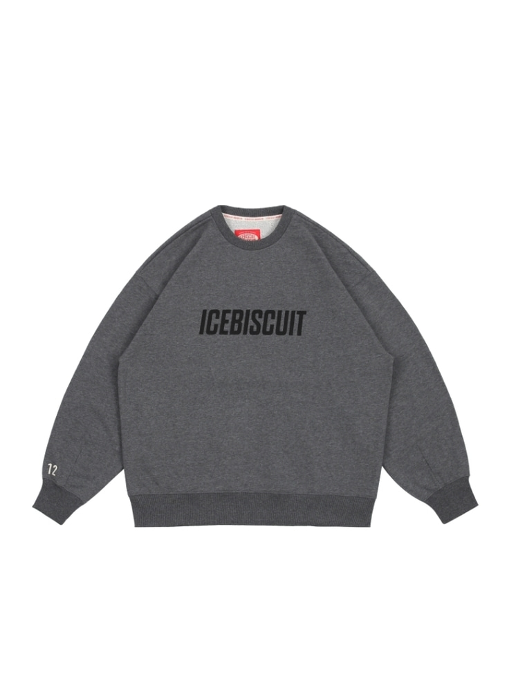 아이스비스킷 - Icebiscuit letter-print cotton sweatshirt (ADULT SIZE)