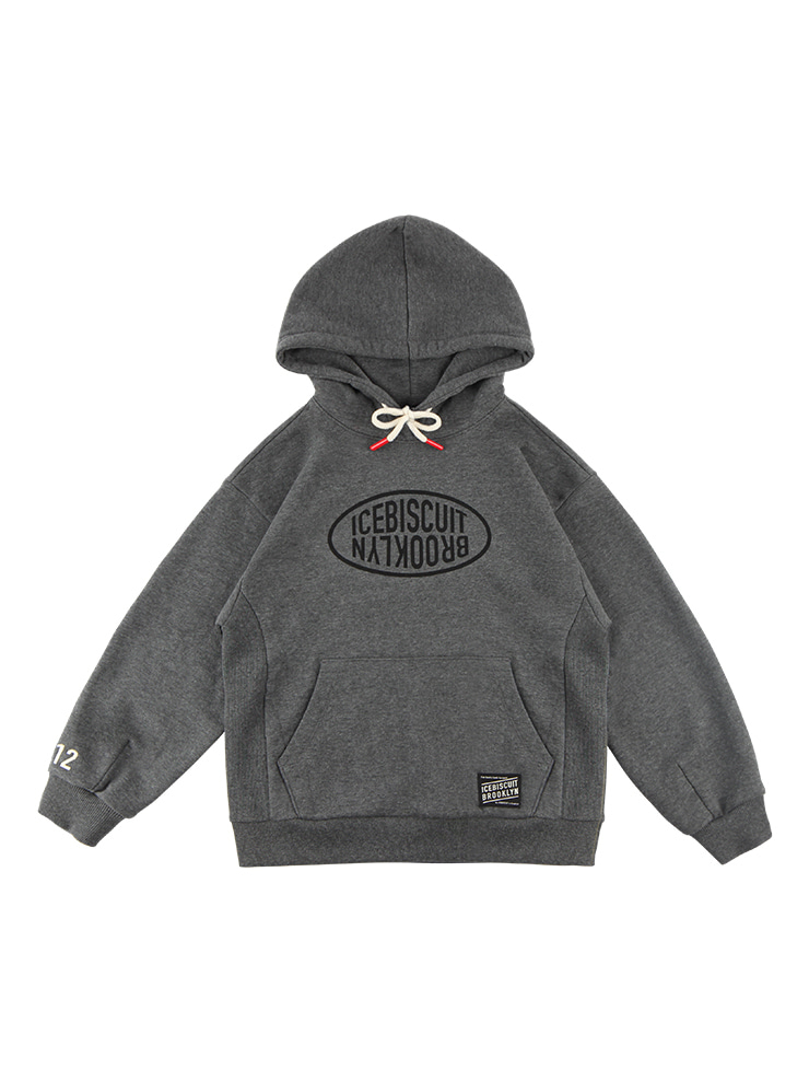 아이스비스킷 - Icebiscuit logo-print cotton hooded sweatshirt